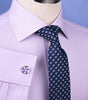 Lilac Herringbone Twill Business Dress Shirt Formal Stylish French Double Cuff