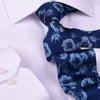 "Blue Italian Floral 3"" Necktie Business Elegance For Formal Business Ocassion"