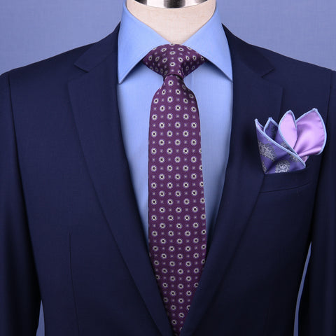 "Purple Pattern Style 3"" Necktie Business Elegance  For Formal Business Occasion"