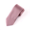 "Tangerine & Blue Basket Woven 3"" Necktie Business Elegance for Smart Men's Ego"