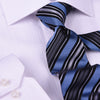 "Blue, Black & White 3"" Necktie Business Formal Elegance for Smart Men's Ego"