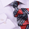 "Red, Black & White Check 3"" Necktie Business Formal Elegance for Smart Men's Ego"