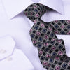"Brown Stylish Italian Check Pattern 3"" Necktie Business Formal Elegance"