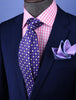 "Purple Check 3"" Italian Necktie Business Formal Elegance For Smart Men's Ego"