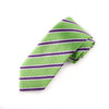 "Green & Pink Stripe Sexy 3"" Necktie Business Formal Elegance For Smart Men's Ego"