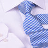 "Blue&Silver Basket Woven 3"" Necktie Business Formal Elegance For Smart Men's Ego"