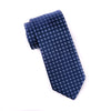 Blue Check Italian Pattern Necktie Business Formal Elegance For Smart Men's Ego