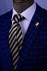 Popular Black Boss Formal Business Striped 3 Inch Tie Mens Professional Fashion