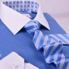 "Light Blue Herringbone Formal Business Striped 3"" Tie Mens Professional Fashion"