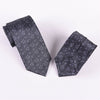 Black Floral Boss Formal Business Striped 3 Inch Tie Mens Professional Fashion