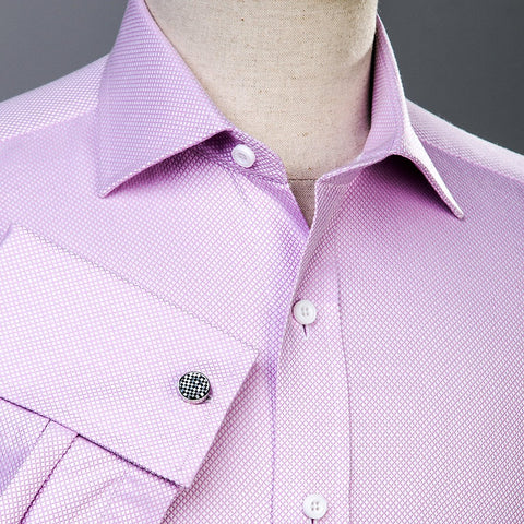B2B Shirts - Pink Marcella Formal Business Dress Shirt Luxury Double French Cuff Fashion - Business to Business