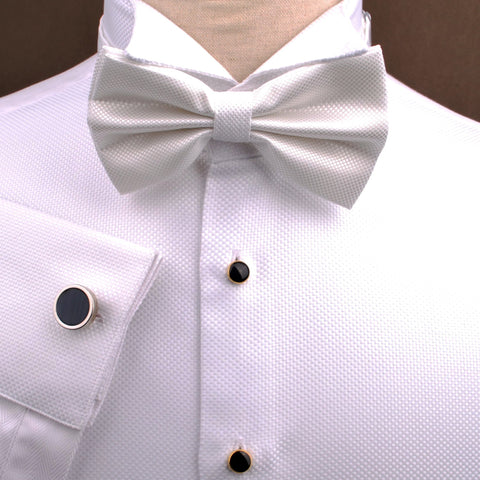 B2B Shirts - White Marcella Formal Dinner Tuxedo Wedding Dress Shirt Sexy Luxury Fashion - Business to Business