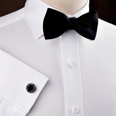 B2B Shirts - White Luxury Marcella Formal Business Dress Shirt Wedding Fashion - Business to Business