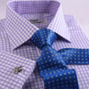 B2B Shirts - Double Twill Plaids & Checks Formal Business Dress Shirt Luxury Designer Matching Inner Lining Fashion - Business to Business