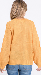 Soft Cable Knit Sweater in Marigold