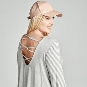 Looped Scoop Back Top