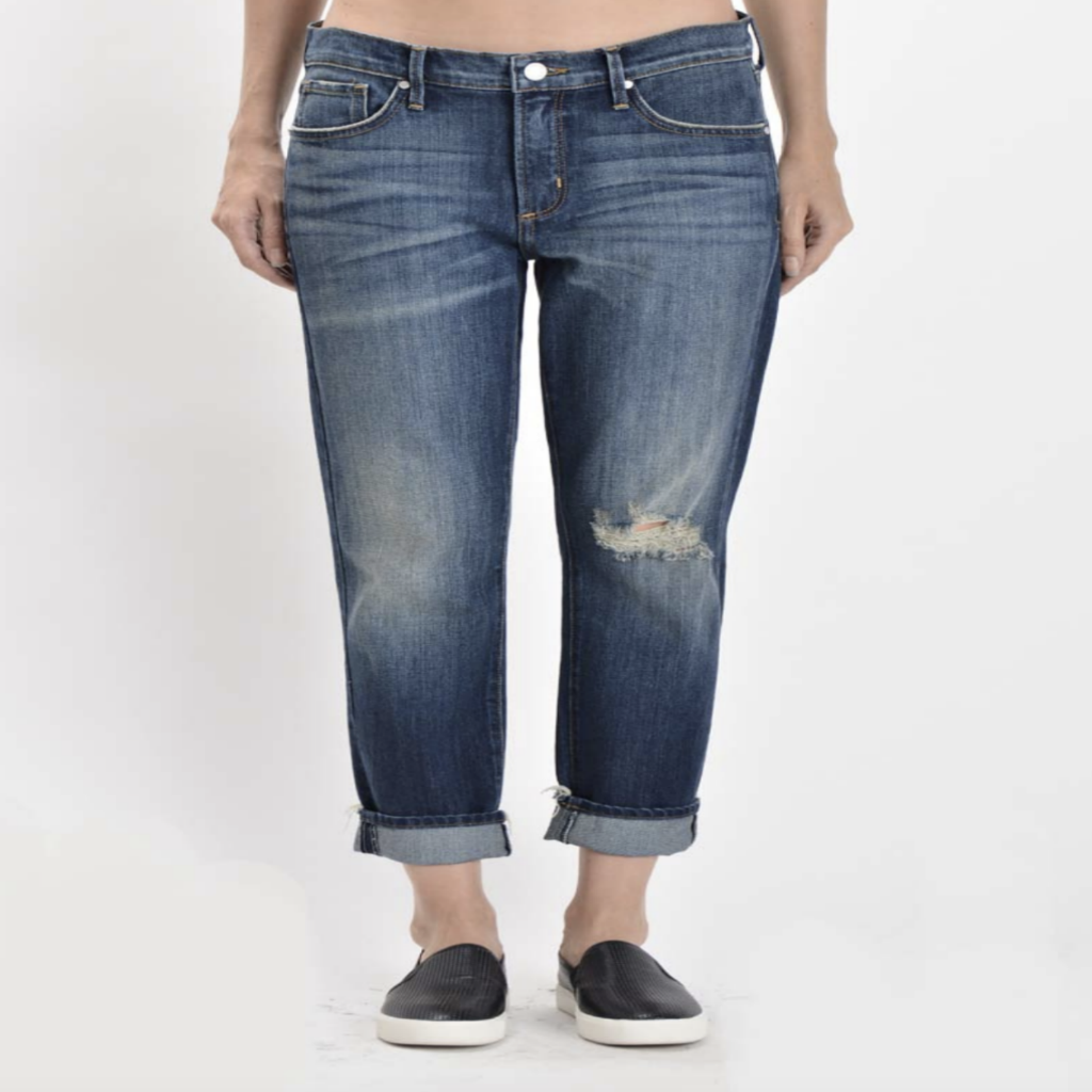Medium Wash Boyfriend Capri