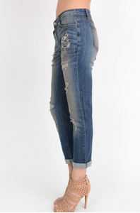 KanCan Distressed Boyfriend Jean