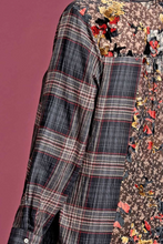 Plaid Button Down With Back Panel