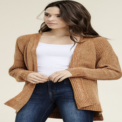 Comfy Chenille Sweater Cardigan
