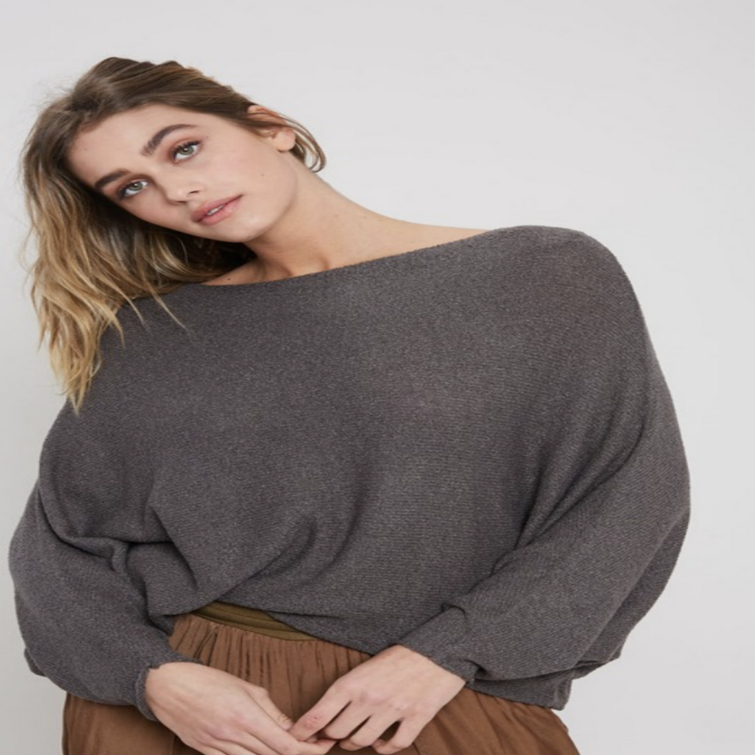 Dolman Off The Shoulder In Charcoal