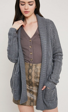 Cable Knit Cardigan in Charcoal