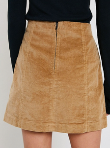 Taupe Corduroy Mini Skirt