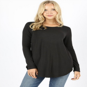 Black Perfect Long Sleeve Tee