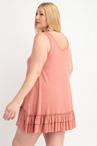 Light Brick Ruffle Tunic