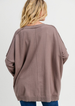 Dolman Sweater Top in Taupe