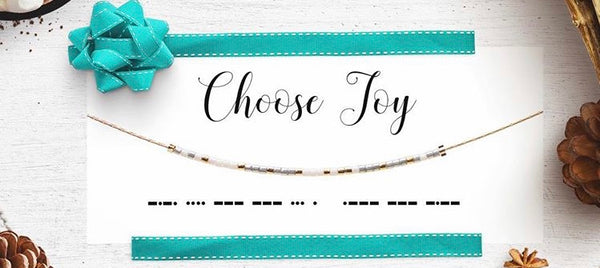 Morse Code Necklace - Choose Joy
