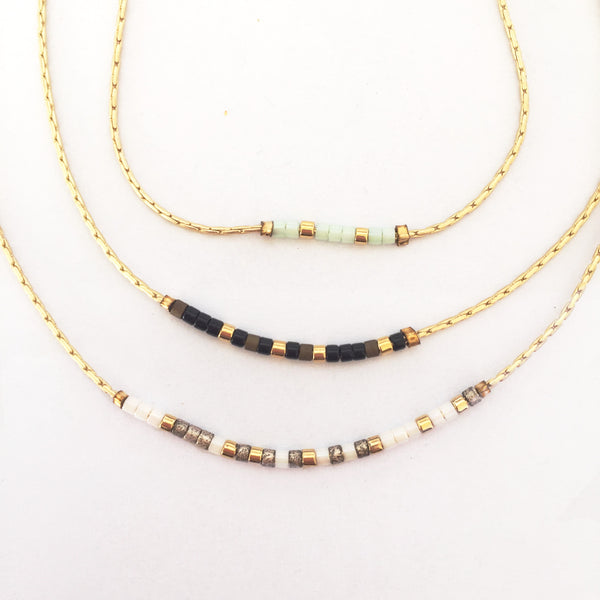 Morse Code Necklace - Custom - Linger Boutique
