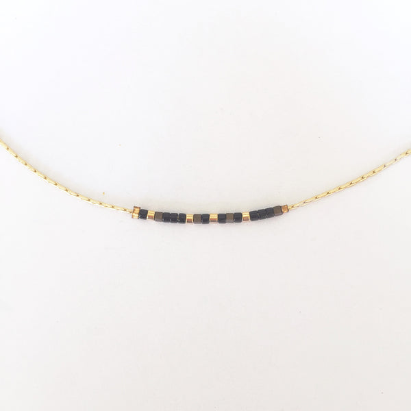Morse Code Necklace - Brave - Linger Boutique