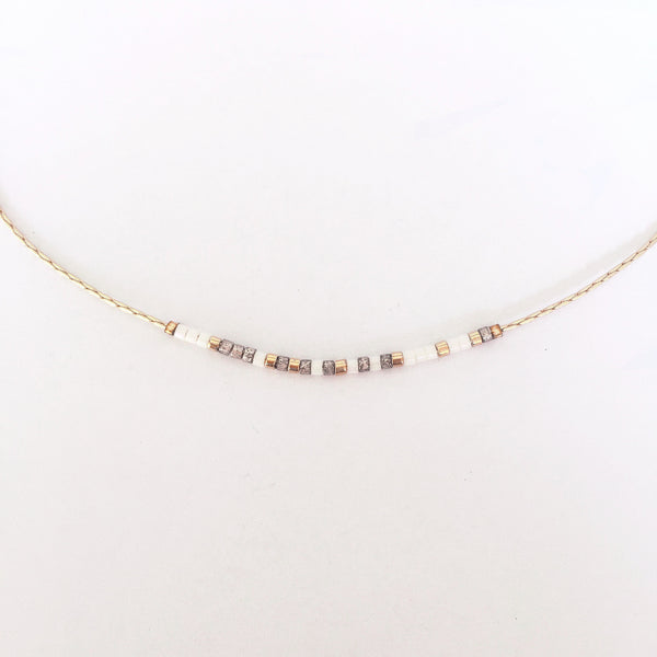 Morse Code Necklace - Overcome - Linger Boutique