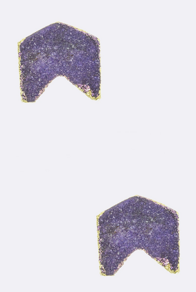 Druzy Arrow Stud Earring - Linger Boutique