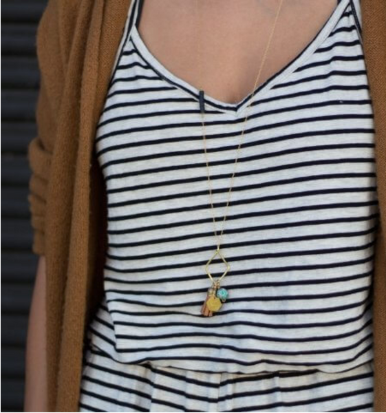 Long Gold Brave Necklace - Linger Boutique