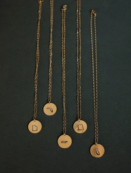 State Stamped Necklace