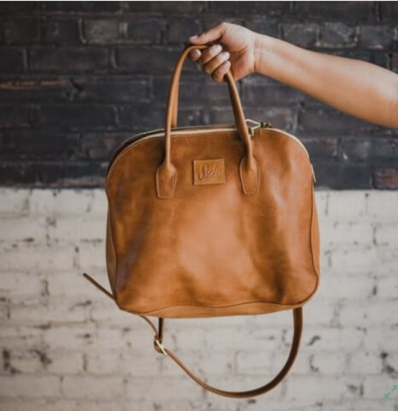 Sheba Handbag in Oiled Caramel
