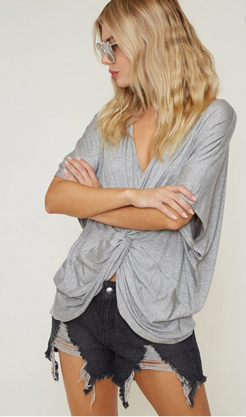 Twisted Grey Top