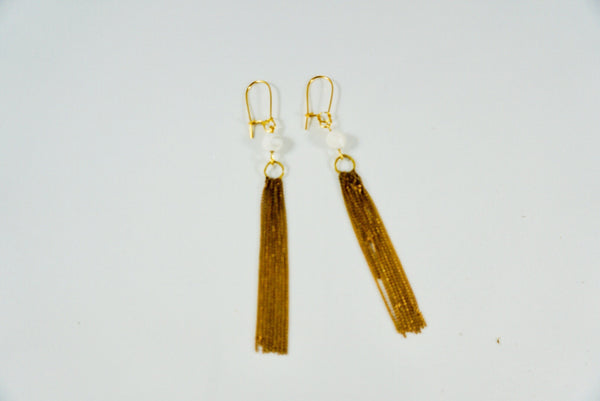 White Drop Earrings - Linger Boutique