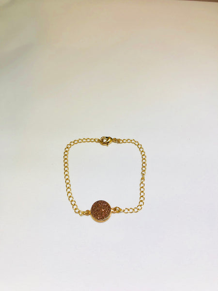Rose Gold Druzzy Bracelet - Linger Boutique