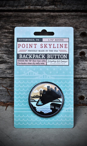 Pittsburgh Point Skyline Backpack button pin
