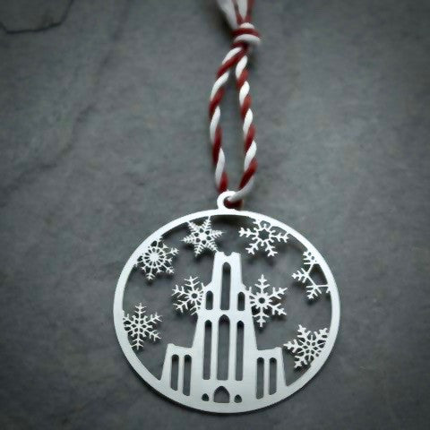 Ornament - Cathedral with Snowflakes