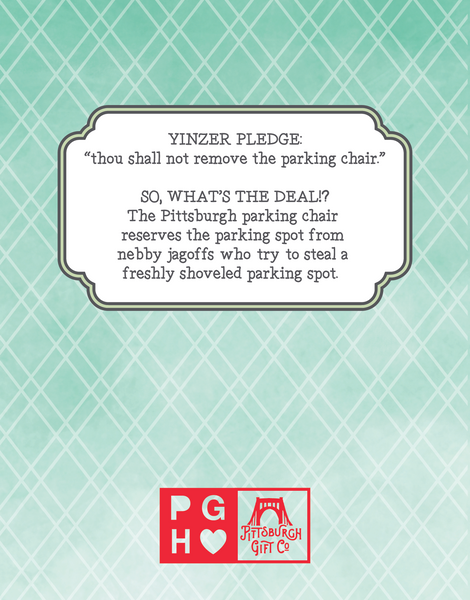 """My heart is reserved for you."" Pittsburgh parking chair card."