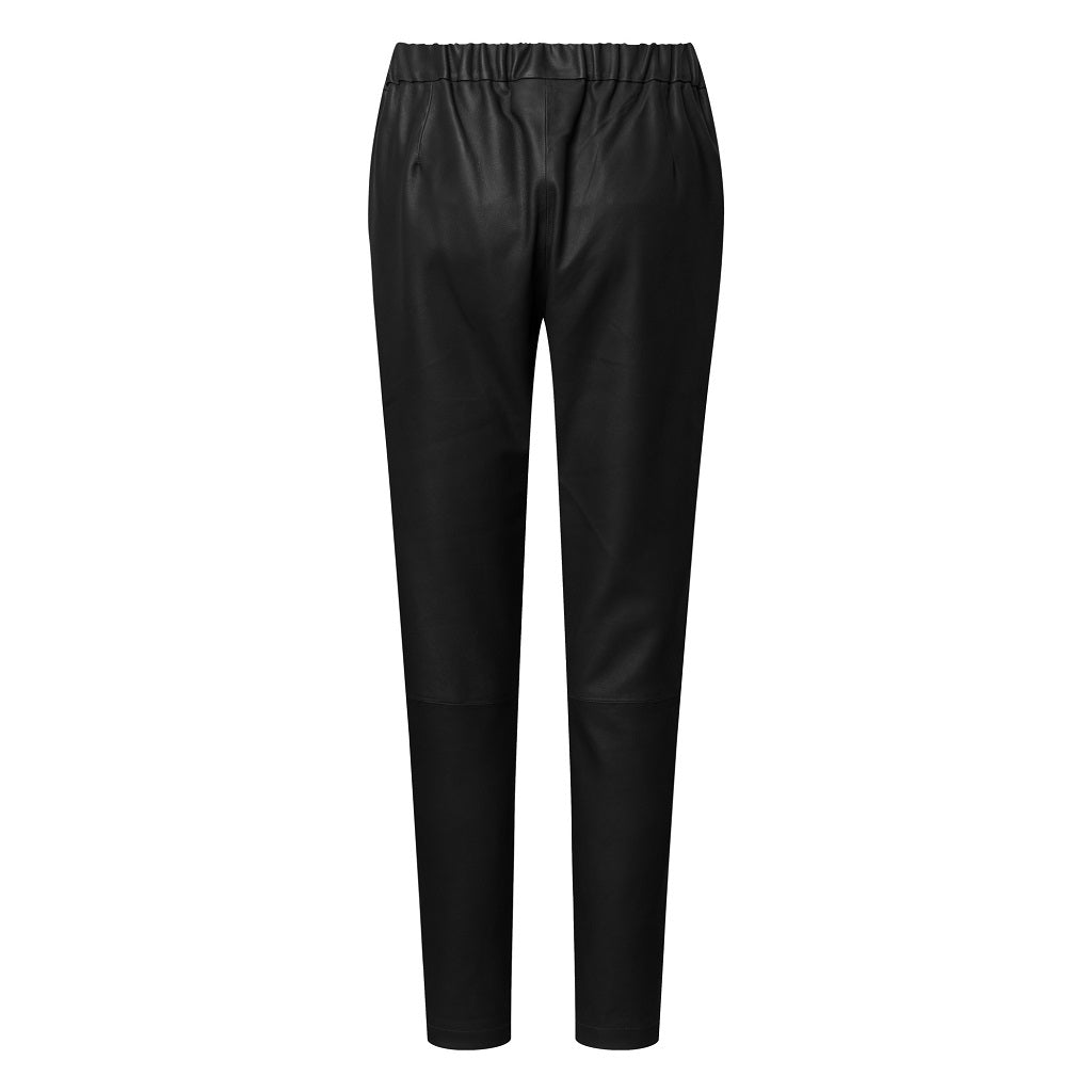 Depeche leather wear Baggy Leather Pant Pants 099 Black (Nero)