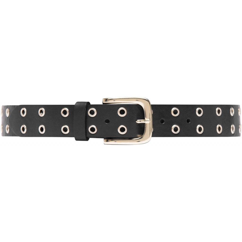 DEPECHE Leather belt decorated with small eyelets Belts 097 Gold (Platino)