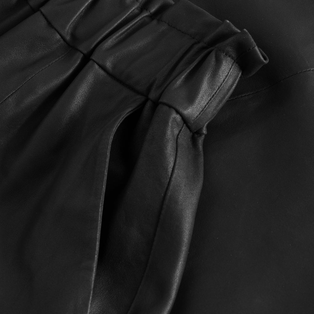 Depeche leather wear Long leather skirt Skirts 099 Black (Nero)