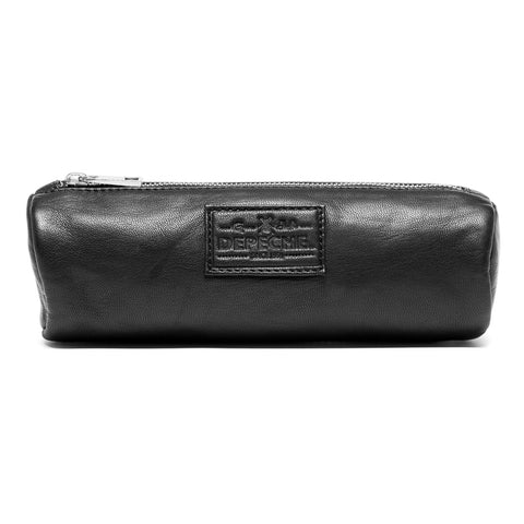 Vintage cosmetic bag in soft leather / 14436