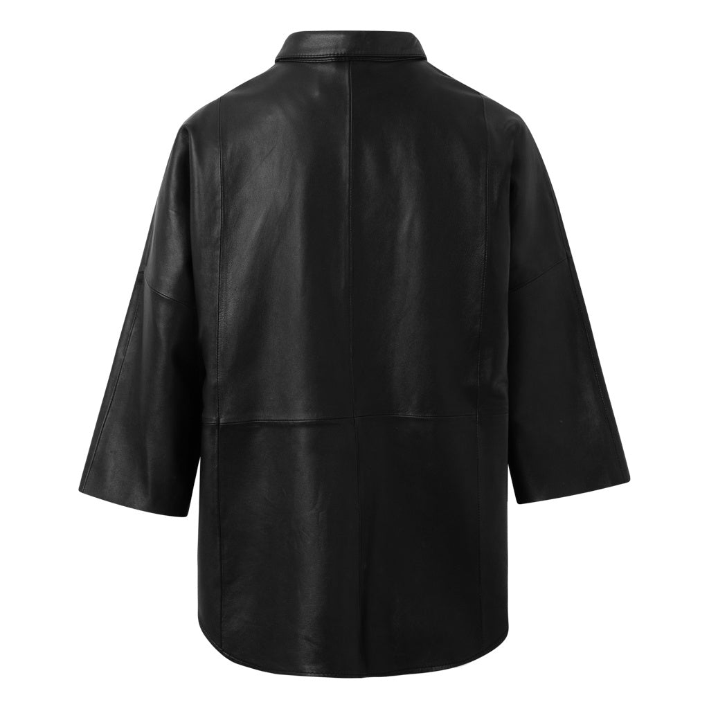 Depeche leather wear Shirt Tops 099 Black (Nero)
