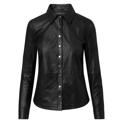 Leather top with beautiful details / 50210